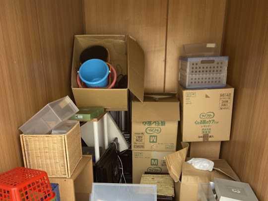 大阪市西淀川区にてトランクルームの不用品回収のご依頼