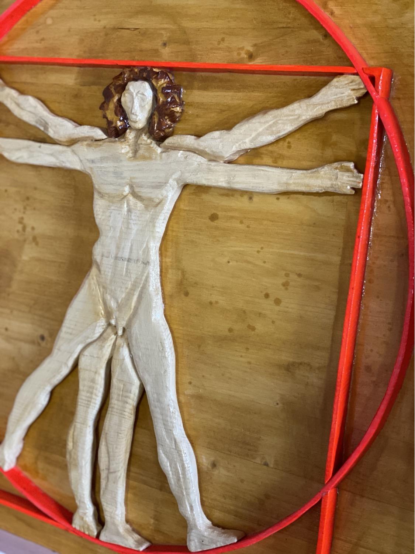 Thumbnail: Omaggio a Leonardo 64x64 cm