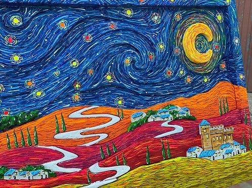 Cammino sotto le stelle_87x57x6 cm
