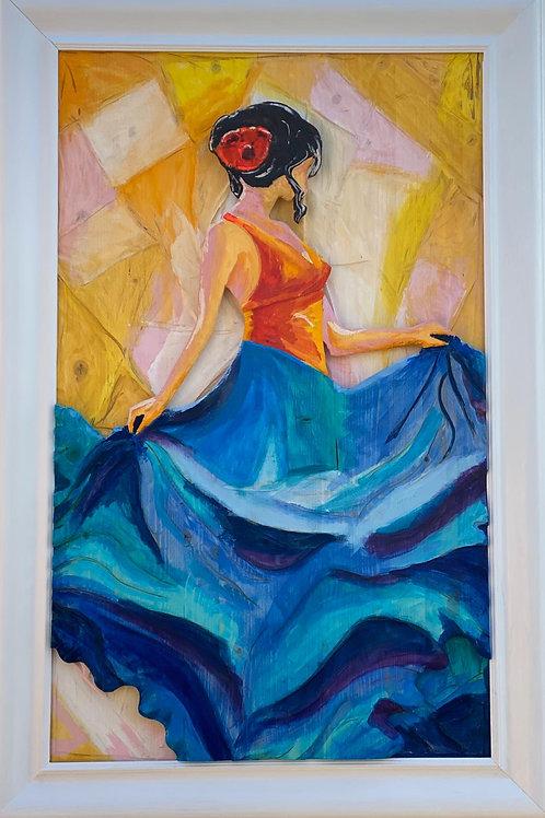 Passione blu 117x77 cm