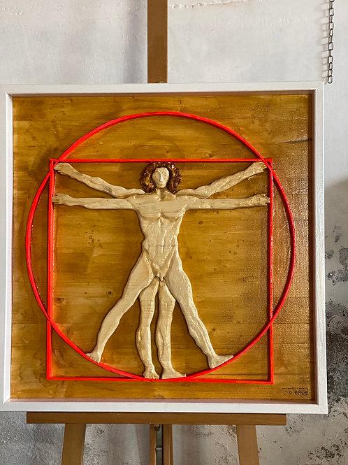 Omaggio a Leonardo 64x64 cm
