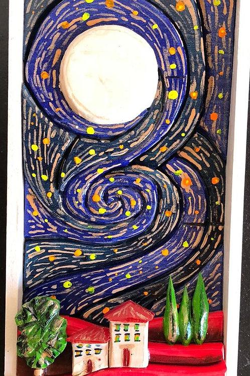 Luna piena 17x32 cm