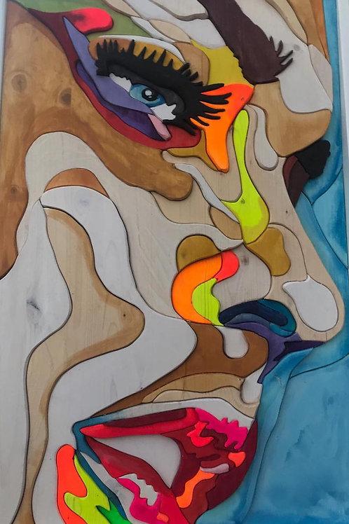 Sguardo materico 53,5x79,5 cm