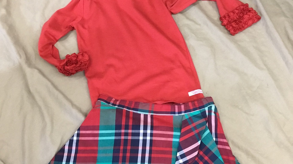 Ruffle Butts Red Layering Tee
