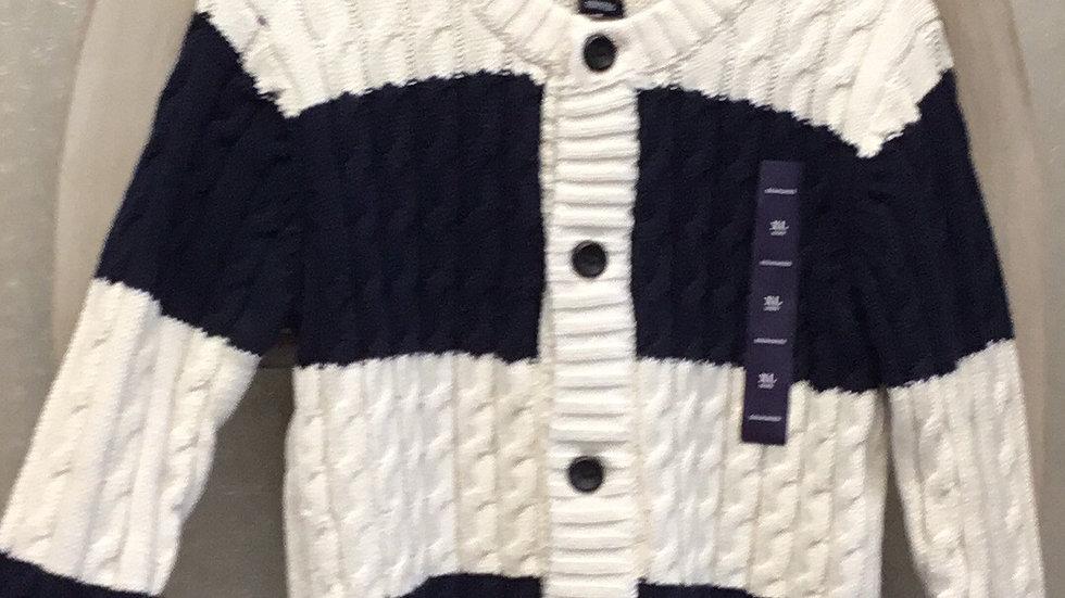 Boys Navy Stripe Sweater