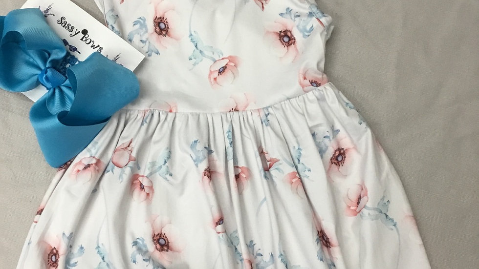 Watercolor Flower Garden Dress