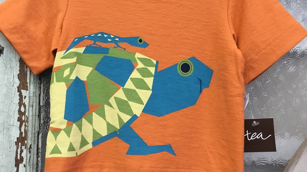 Infant Boys Burnt Orange Turtle Tee
