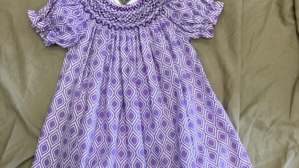 Lilac Hand Smocked  Dress