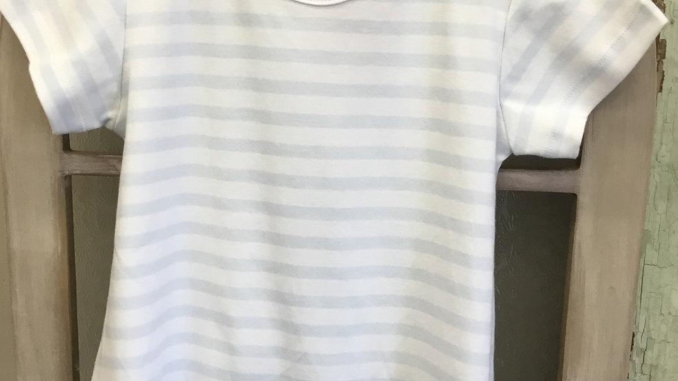 Infant Boys Blue Striped Short Onsie