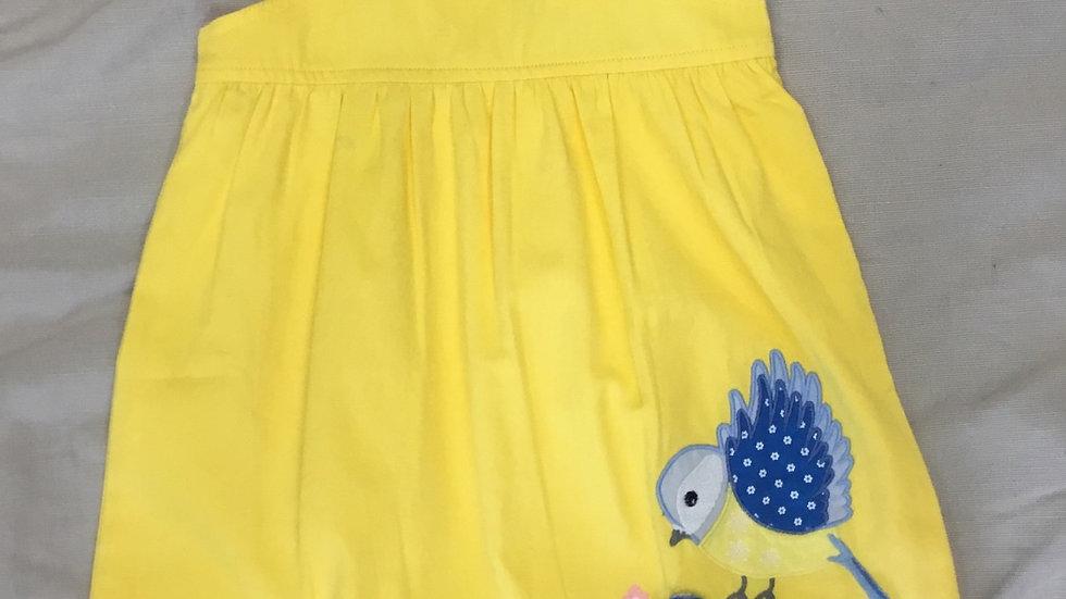 Yellow Bluebird Dress
