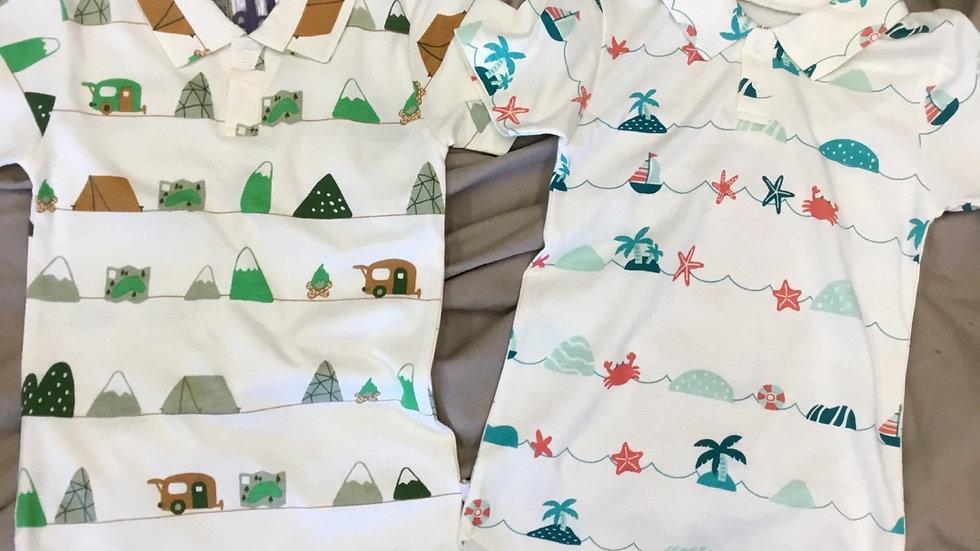 Mountain/ Sea Short/Sky Short sleeve Polo