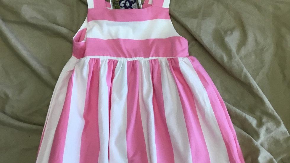 Pink Jersey Striped Dress