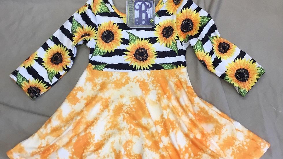 Sunflower Twirl Dress
