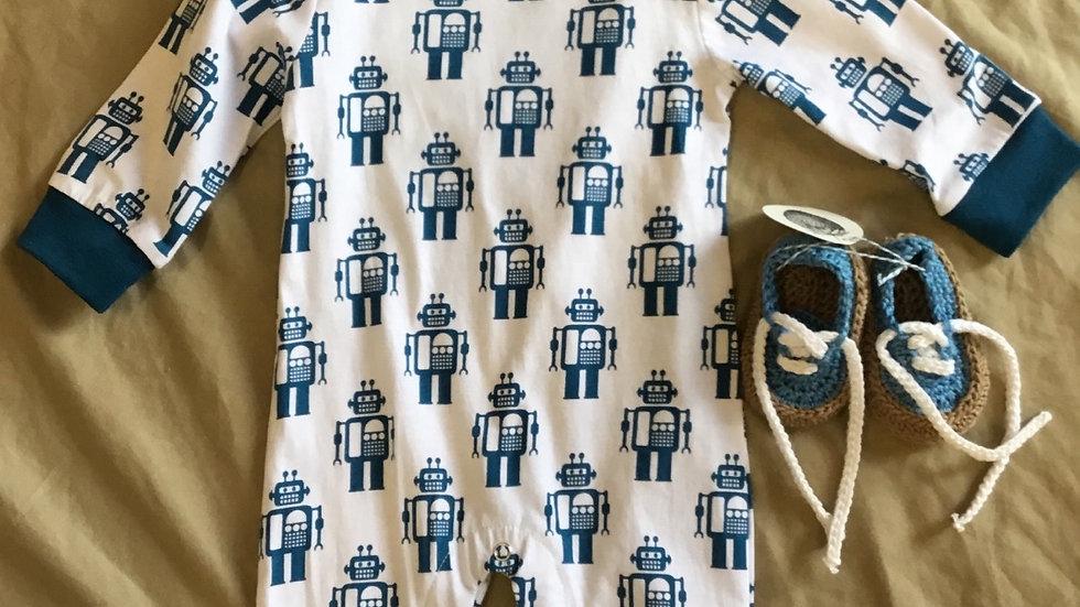 Robot Long Sleeve Onsie