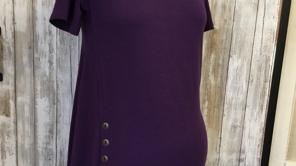 Purple Rounded Front Swing Top
