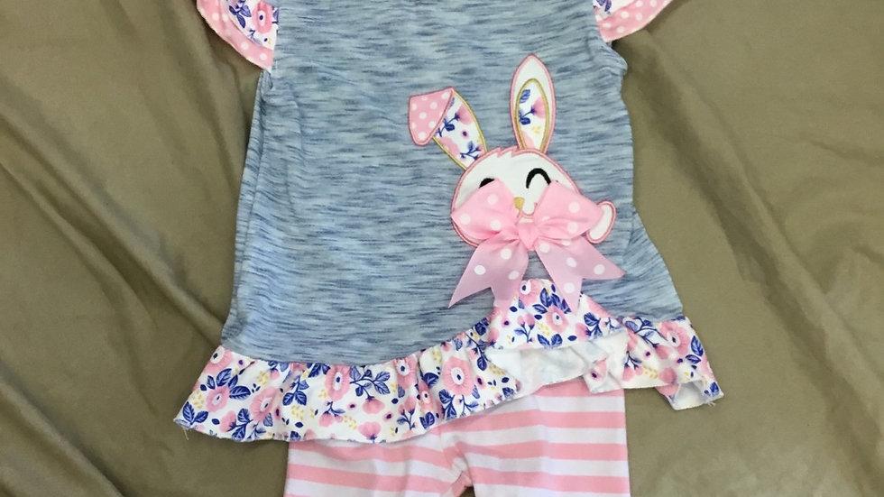 Pink Floral Bunny Set