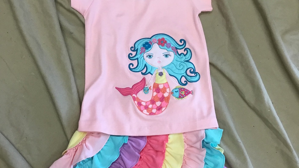 Mermaid Wave Tee and Sprinkles Skort ( can be sold separately)