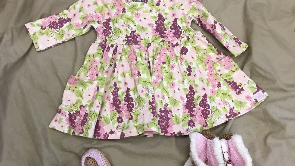 Plumey Ribbed Knit Dress