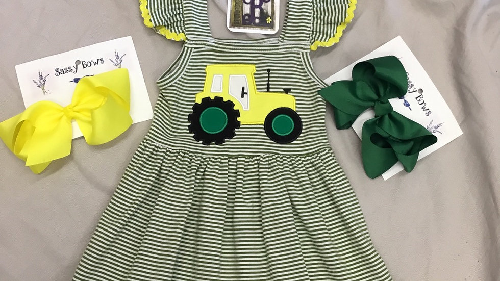 Take Me For A Ride On My Big Yellow Tractor Dress