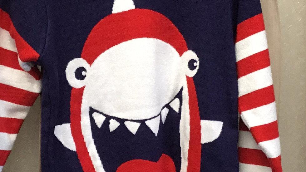 Boys Navy Baby Shark Sweater