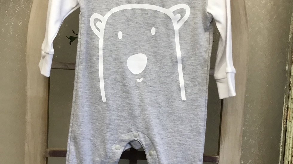 Infant Boys Gray Bear Onsie