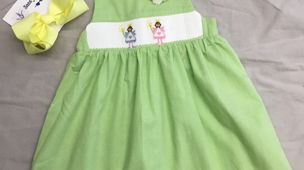 Smocked Fairies Gingham Jumper