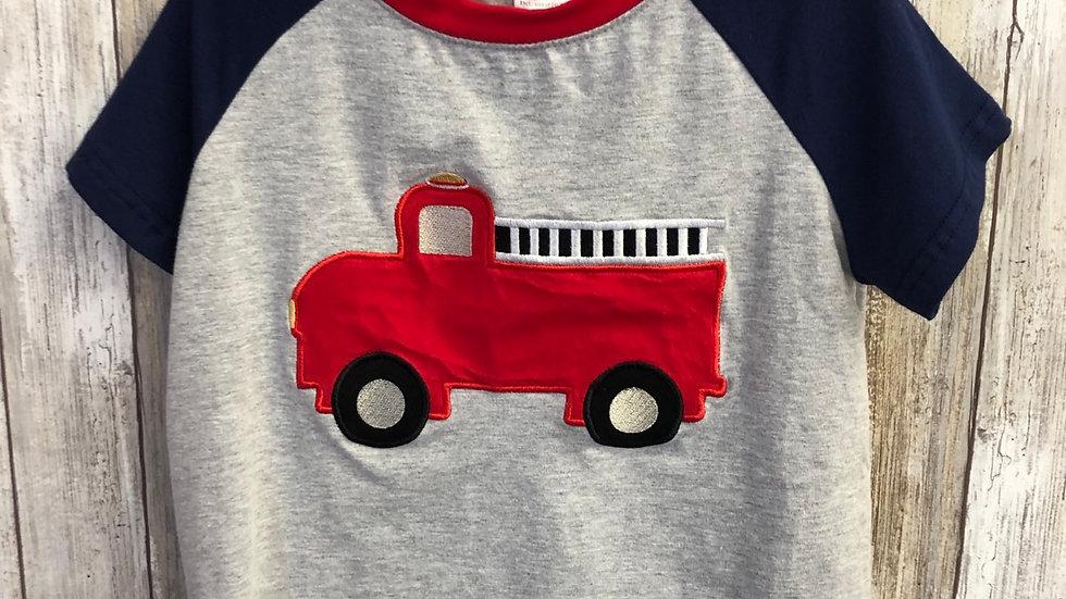 Boys Fire Truck Appliqué