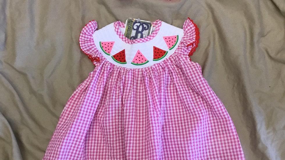 Pink Watermeon Smock Dress
