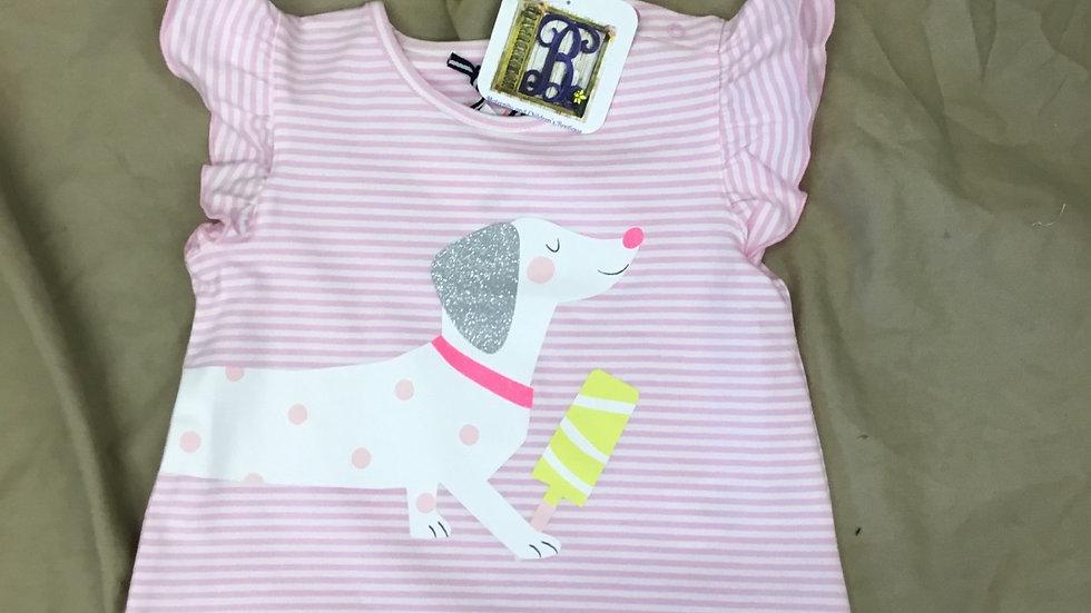 Pink Striped Dog Shirt