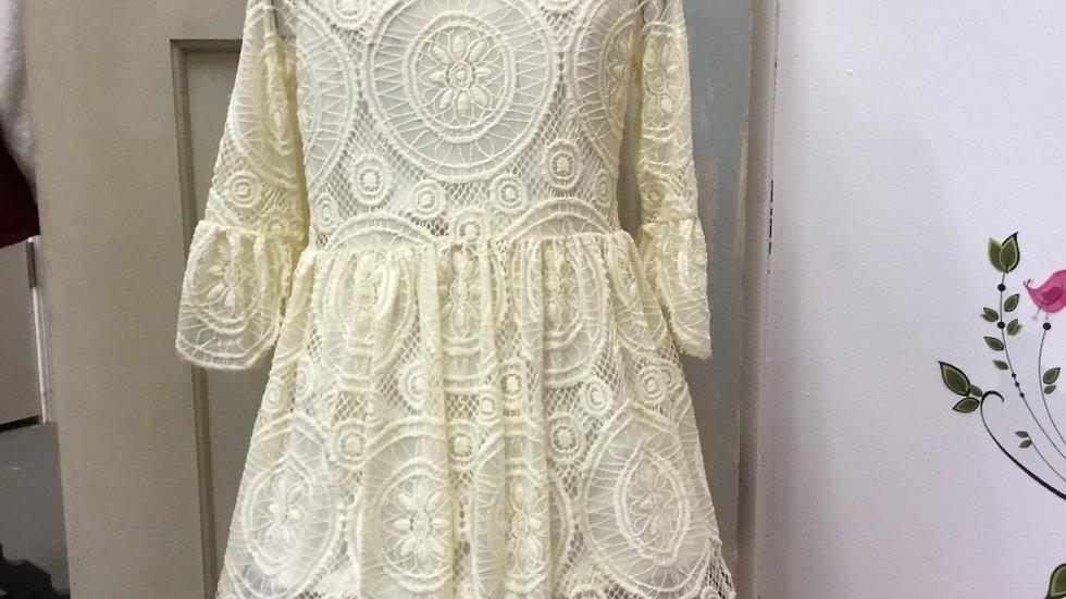 Victorian Vintage Lace Dress Cream