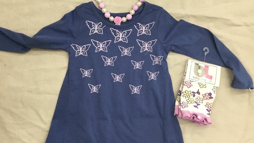 Blue Butterfly Garden Dress