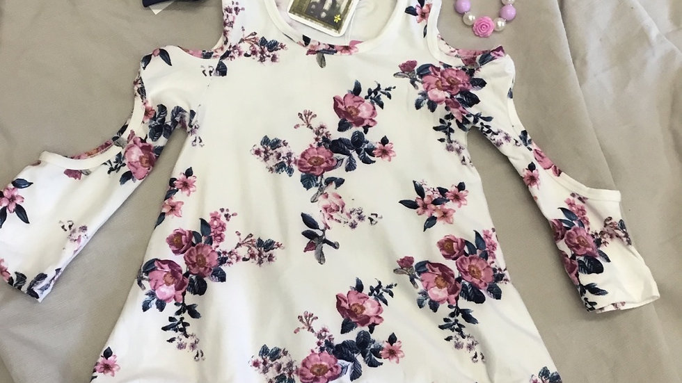 Cold Sleeve Floral Top