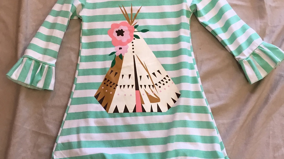 Striped TeePee Dress