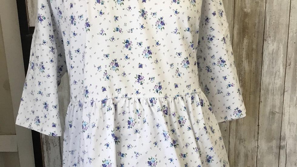 White Delicate Floral Cotton Top