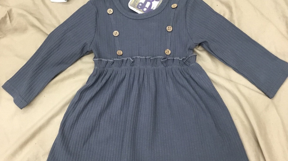 Button Ruffle Dress
