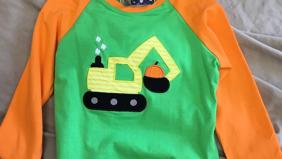 Pumpkin Excavator Shirt