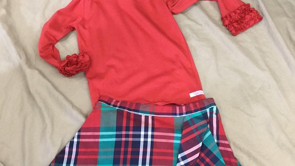 Ruffle Butts Kennedy Plaid Skirt
