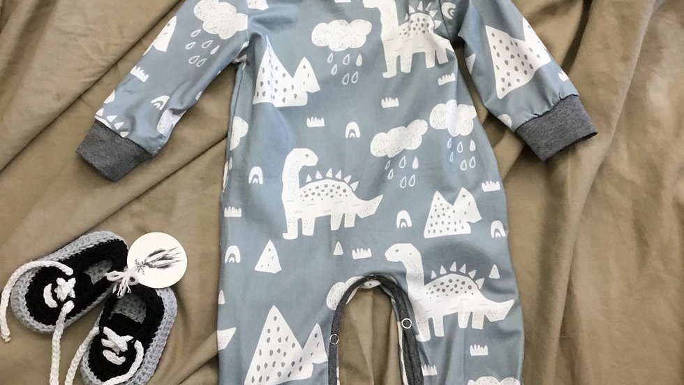 Rainy Day Dinos Romper