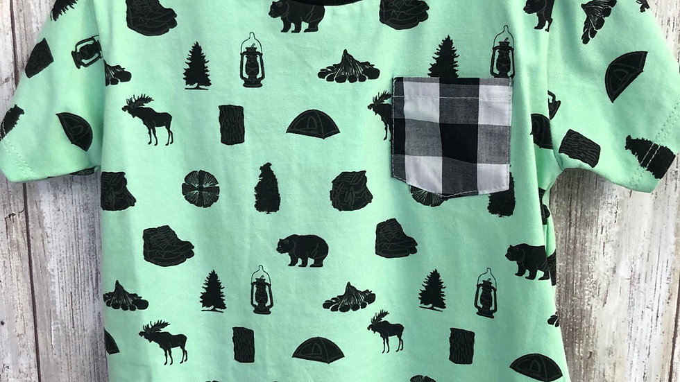 Boys Green Camper Shirt