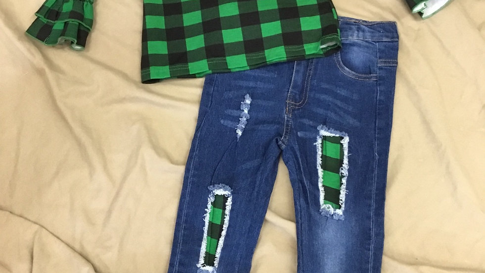Plaid Truck Jean Set
