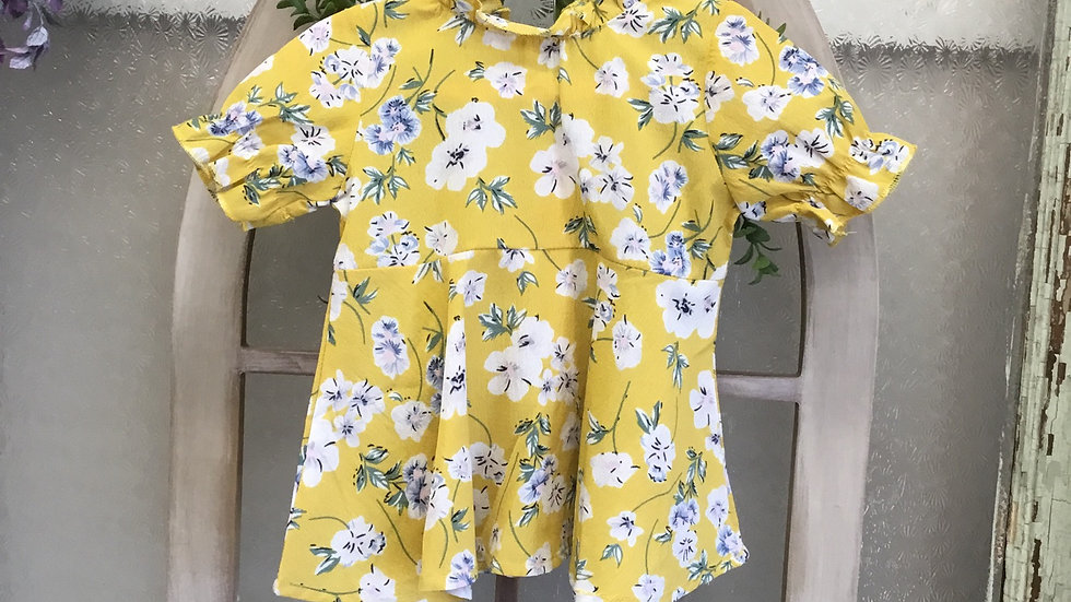 Yellow Foral Dress