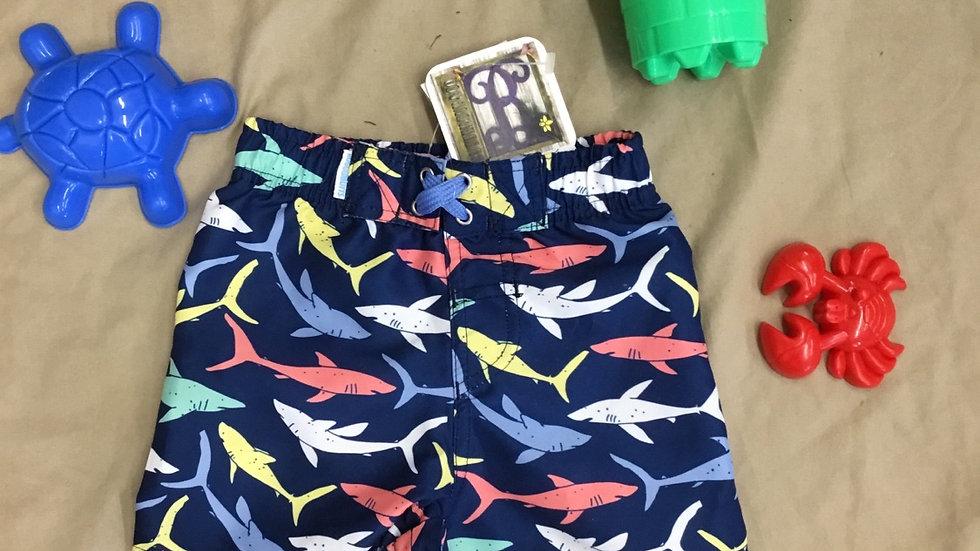 Shark Attack Swim Trunks