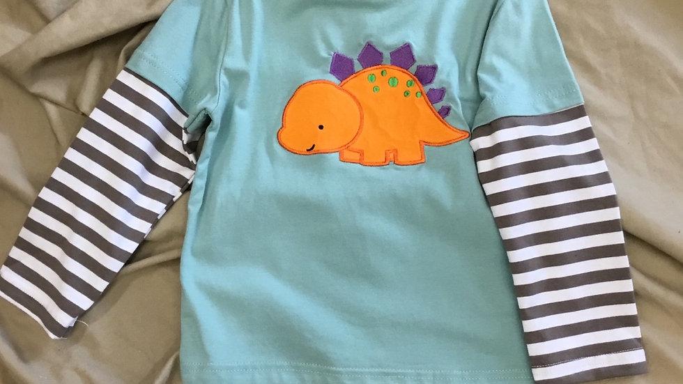 Dino Baby Appliqué Shirt