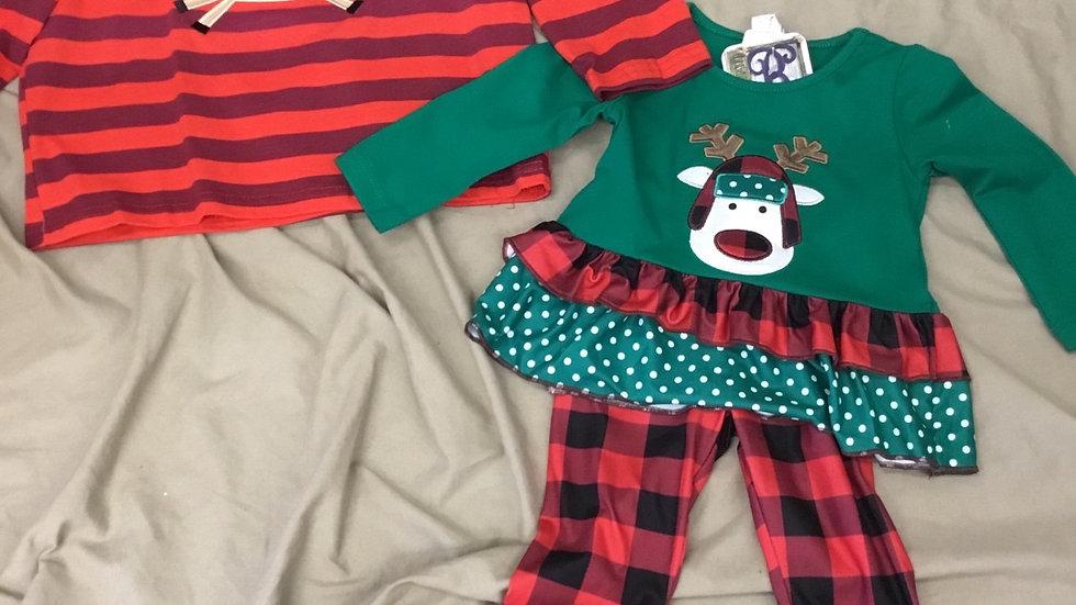 Reindeer Pants Set