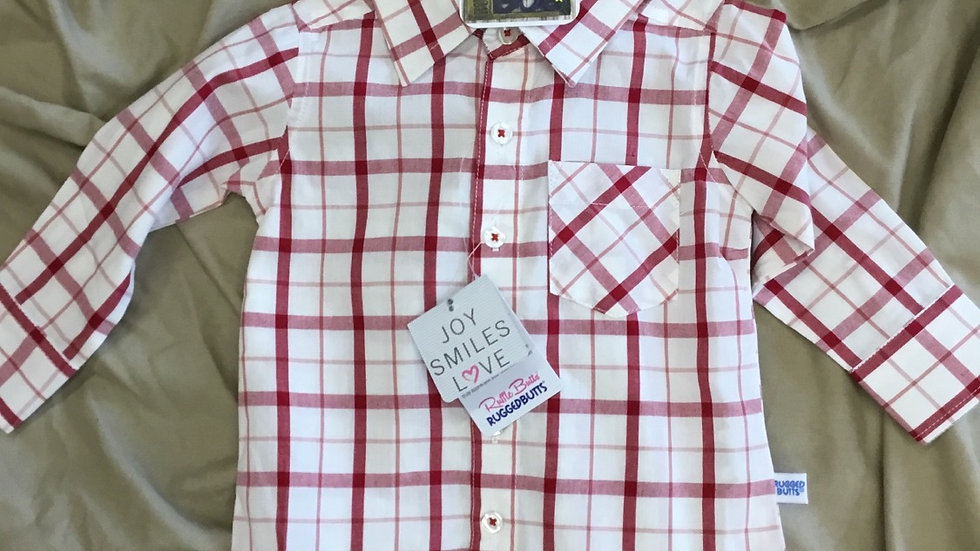 Ruffle Butts Cranberry Window Shirt