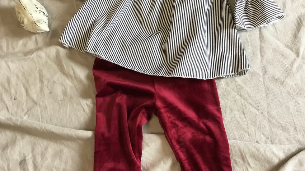 Ruby Striped Bell Set