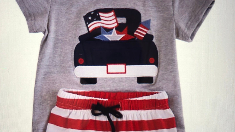 Boys 2Piece All American Truck Outfit