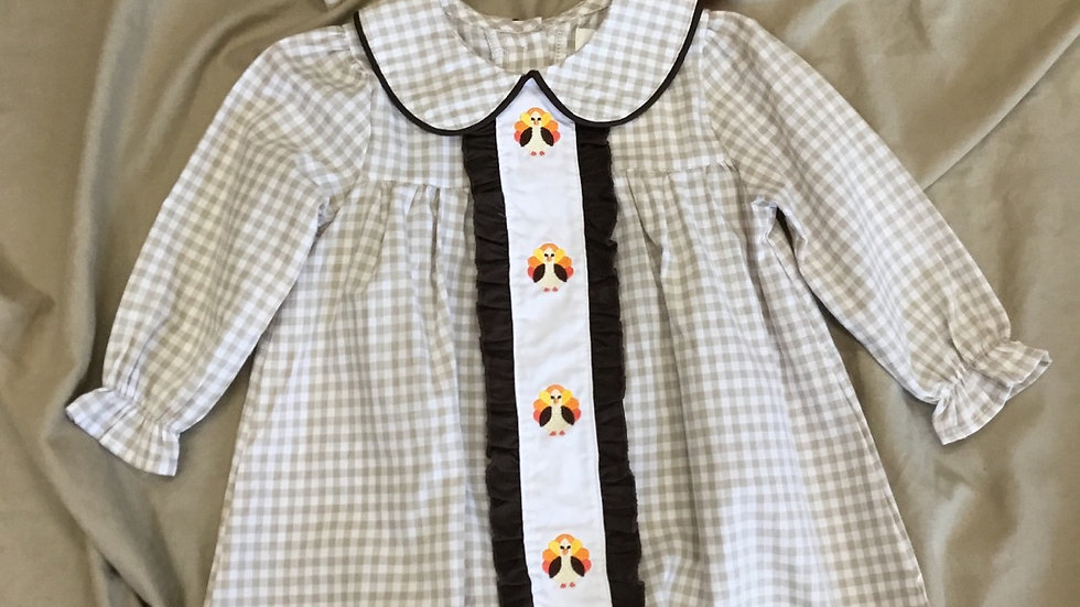 Embroidered Turkey Dress