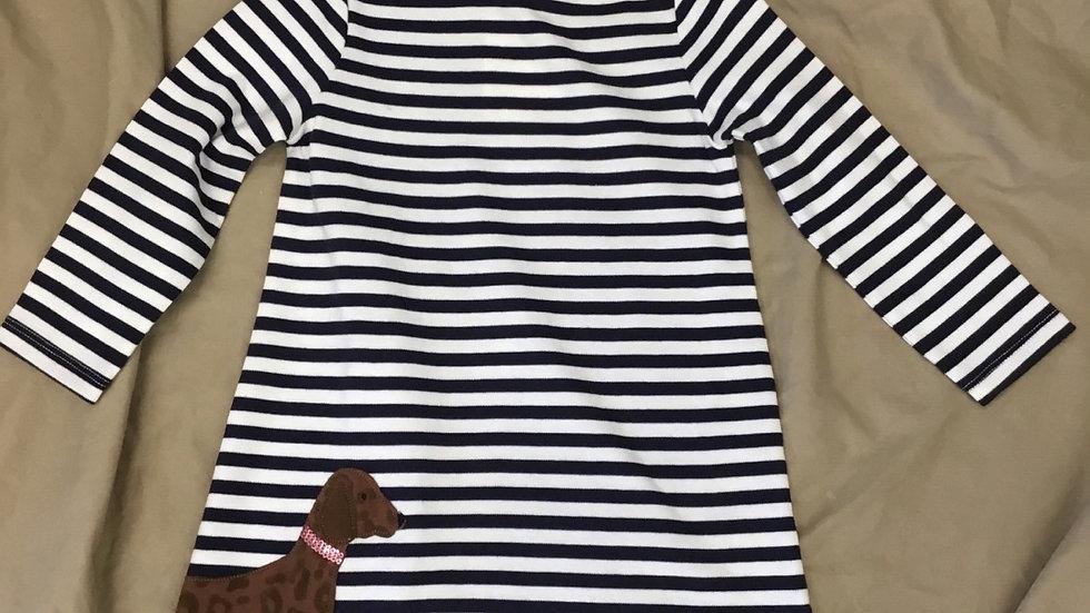 Navy Dog Dress