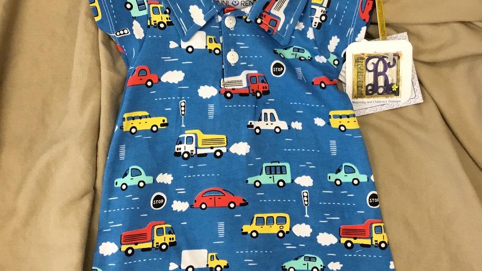 Cars and Trucks Romper